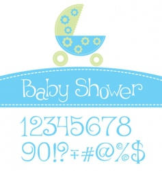arrival announcement card vector image vector image