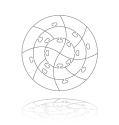 Concentric jigsaw puzzle vector