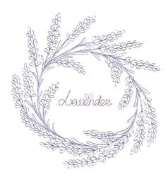 floral hand-drawn garland vector image