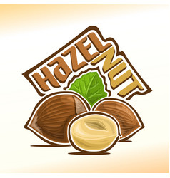 logo for hazelnut nuts vector image