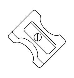 Pencil sharpener school thin line vector