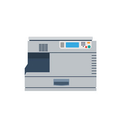 printer machine office copy print business icon vector image