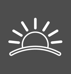 sun icon sunset icon flat icon of sun sun eps vector image