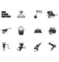 Symbols of building equipment vector image