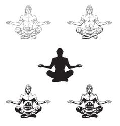 advanced yoga poses royalty free vector image  vectorstock