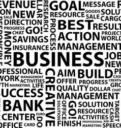 Business words typography vector