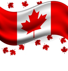 Canada flag with Maple flying for celebrate the vector image vector image