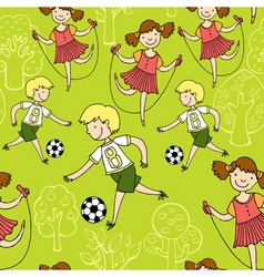 children sports vector image