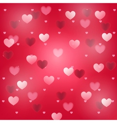 hearts red square background vector image vector image