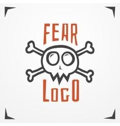 Skull fear logo vector image vector image
