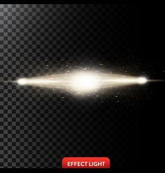 a two golden light rays vector image