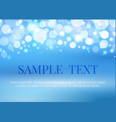 Abstract blue background with bokeh lights vector