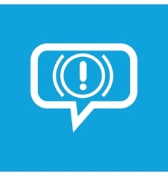Alert sign message icon vector