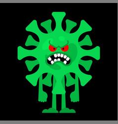 Angry coronavirus evil virus global epidemic vector
