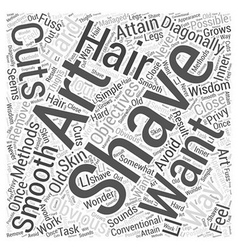 Art of shaving Word Cloud Concept vector