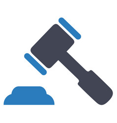 auction gavel law icon vector image