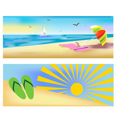 beach holidays vector image