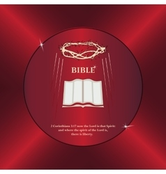 Bible crown of thorns vector