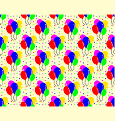 birthday pattern background shaped balloon vector image
