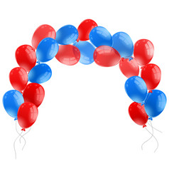 Blue and red balloons on white background vector