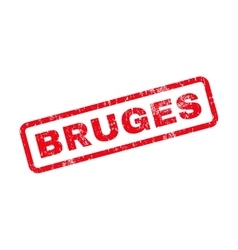 Bruges Text Rubber Stamp vector