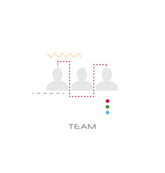 business people team successful teamwork concept vector image