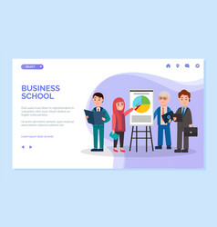 business school learning details presentation vector image