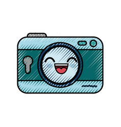 camera cartoon smiley vector image