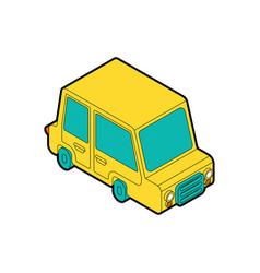 car cartoon style auto kids style vector image