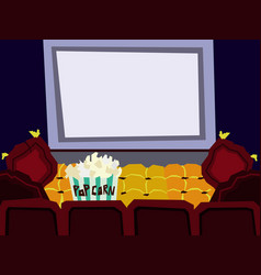 cartoon flat cinema hall interior vector image