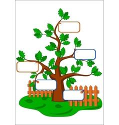 Cartoon oak tree vector
