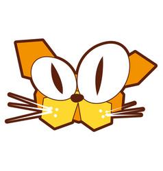 Cat comic character icon vector