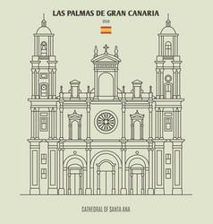 cathedral in las palmas de gran canaria vector image
