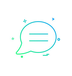 chat sms comments icon design vector image
