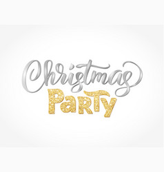 Christmas party hand written lettering isolated on vector