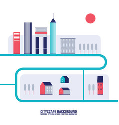 cityscape background modern flat design style vector image