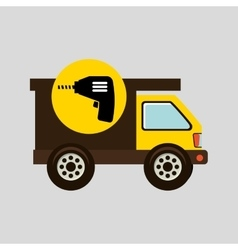 Construction gear icon drill vector
