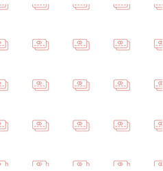 credit card icon pattern seamless white background vector image