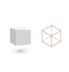 cube is a geometric figure hipster fashion vector image