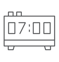 digital clock thin line icon electronic digital vector image