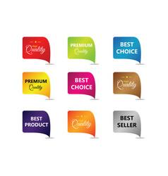 Discount label compilation logo template design vector