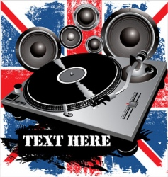 DJ party UK vector image vector image