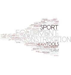 Equipment word cloud concept vector