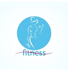 Fitness ans sport girls icons vector
