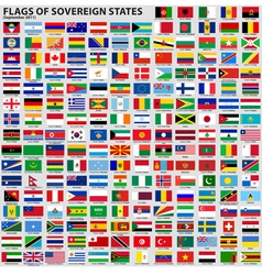 Flags world sovereign states vector