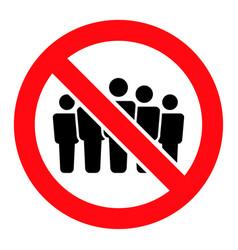 Forbidden people crowd - icon vector