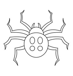 garden spider icon outline style vector image
