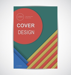 Geometric cover design retro colors format vector