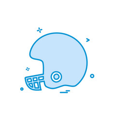 helmet cricket playing icon design vector image