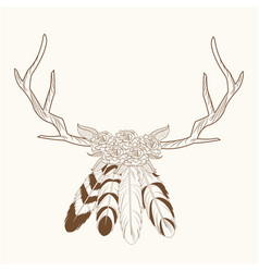Horns feathers free spirit image vector